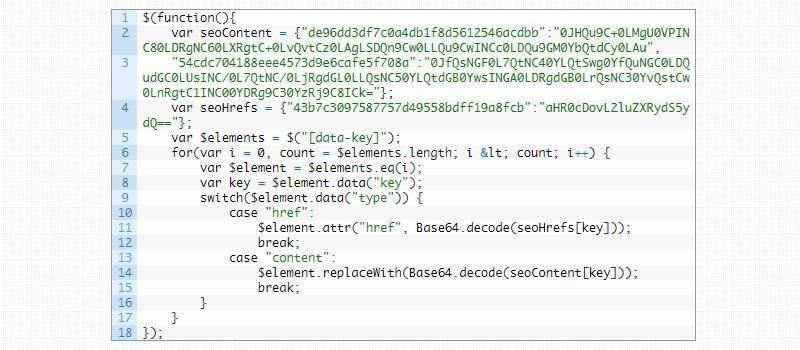SEOhide. Скриване на линк или текст за индексиране